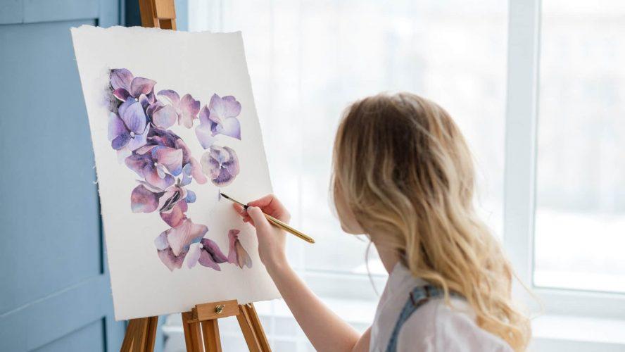 Obrazy ręcznie malowane jako wystrój domu