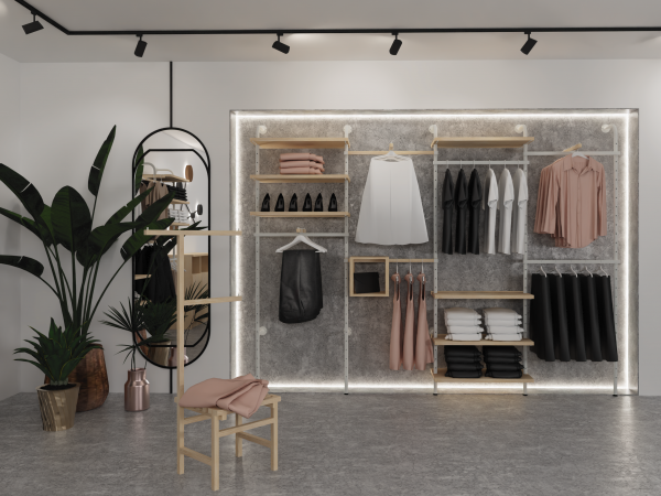 System AVENIR do garderoby o otwartej konstrukcji